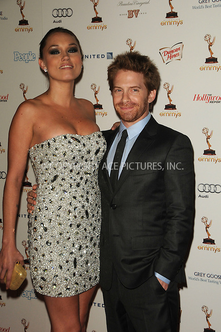 WWW.ACEPIXS.COM . . . . .  ....September 16 2011, LA....Actors Clare Grant (L) and Seth Green arriving at the 63rd Annual Emmy Awards Performers Nominee Reception held at Pacific Design Center on September 16, 2011 in West Hollywood, California. ....Please byline: PETER WEST - ACE PICTURES.... *** ***..Ace Pictures, Inc:  ..Philip Vaughan (212) 243-8787 or (646) 679 0430..e-mail: info@acepixs.com..web: http://www.acepixs.com