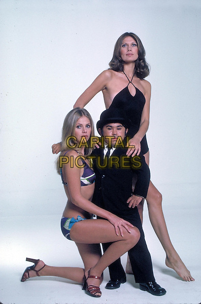Britt Ekland (Mary Goodnight), Herve Villechaize (Nick Nack), Maud Adams (Andrea Anders)<br /> in The Man with the Golden Gun (1974) <br /> *Filmstill - Editorial Use Only*<br /> CAP/NFS<br /> Image supplied by Capital Pictures