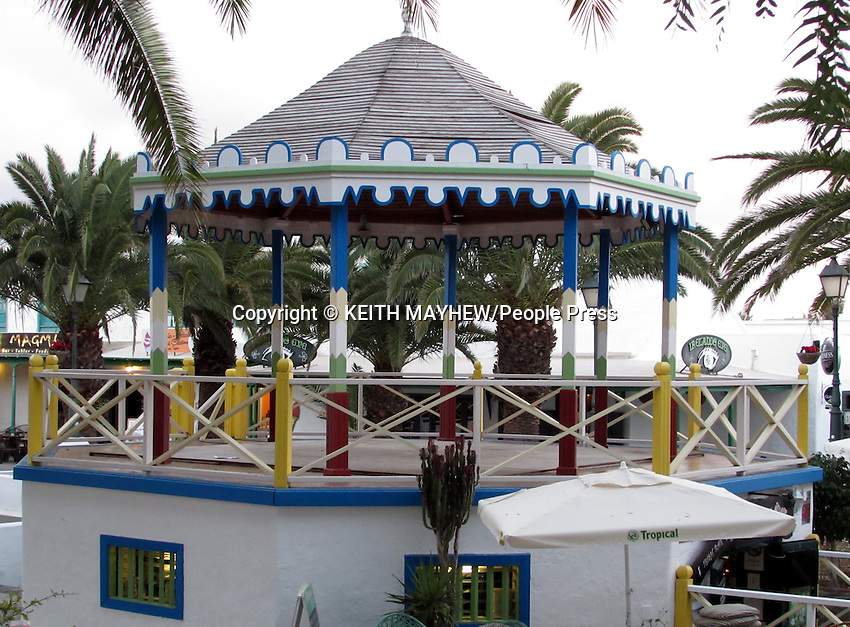 LANZAROTE, CANARY ISLANDS -  Bandstand in the Square in the beach resort of Costa Teguise during January 2016 in Lanzarote, Canary Islands<br /> <br /> Photo by Keith Mayhew