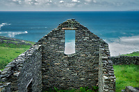 Stone house ruins. Slea Head Drive. County Kerry, Ireland