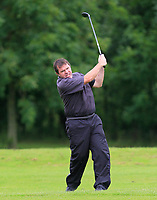 Colm Cassidy (Tullamore) on the 1st fairway during the Final round of the Irish Mixed Foursomes Leinster Final at Millicent Golf Club, Clane, Co. Kildare. 06/08/2017<br /> Picture: Golffile | Thos Caffrey<br /> <br /> <br /> All photo usage must carry mandatory copyright credit      (&copy; Golffile | Thos Caffrey)