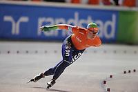 SCHAATSEN: BOEDAPEST: Essent ISU European Championships, 06-01-2012, 3000m Ladies, Linda de Vries NED, ©foto Martin de Jong