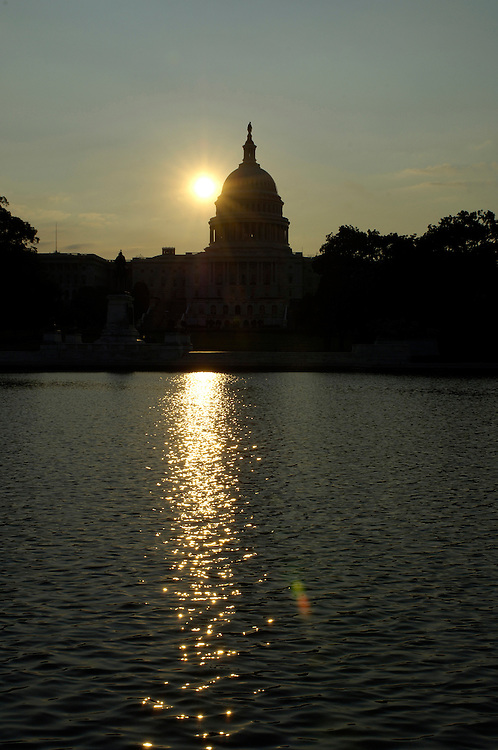 Sunrise on the East Front of the U.S. Capitol in Washington, D.C.