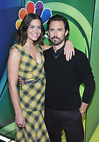 NEW YORK, NY - MAY 09: Mandy Moore and Milo Ventimiglia attends the 2019/2020 NBC Upfront presentation at the    Fourr Seasons Hotel on May 13, 2019in New York City.  <br /> CAP/MPI/JP<br /> ©JP/MPI/Capital Pictures