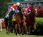 May 4, 2019 : #4 Beau Recall, ridden by Irad Ortiz, Jr., wins the Longines Churchill Distaff Turf Mile on Kentucky Derby Day at Churchill Downs on May 4, 2019 in Louisville, Kentucky. Carolyn Simancik/Eclipse Sportswire/CSM