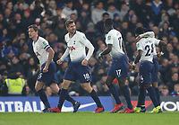 Tottenham Hotspur's Fernando Llorente celebrates scoring his side's first goal <br /> <br /> Photographer Rob Newell/CameraSport<br /> <br /> The Carabao Cup Semi-Final Second Leg - Chelsea v Tottenham Hotspur - Thursday 24th January 2019 - Stamford Bridge - London<br />  <br /> World Copyright © 2018 CameraSport. All rights reserved. 43 Linden Ave. Countesthorpe. Leicester. England. LE8 5PG - Tel: +44 (0) 116 277 4147 - admin@camerasport.com - www.camerasport.com