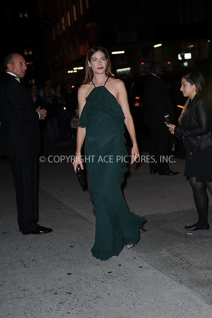WWW.ACEPIXS.COM<br /> October 22, 2015 New York City<br /> <br /> Michelle Monaghan arriving to attend the 2015 Fashion Group International's Night Of Stars at Cipriani Wall Street on October 22, 2015 in New York City.<br /> <br /> Credit: Kristin Callahan/ACE<br /> Tel: (646) 769 0430<br /> e-mail: info@acepixs.com<br /> web: http://www.acepixs.com