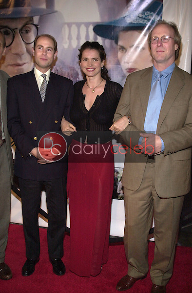 Prince Edward, Julia Ormond and William Hurt