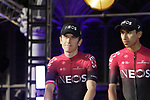 Geraint Thomas (WAL) and Egan Bernal (COL) Team Ineos at the team presentation held on the Grand-Place before the 2019 Tour de France starting in Brussels, Belgium. 4th July 2019<br /> Picture: Colin Flockton | Cyclefile<br /> All photos usage must carry mandatory copyright credit (© Cyclefile | Colin Flockton)