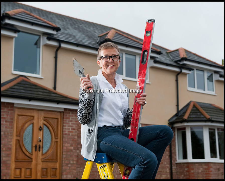 BNPS.co.uk (01202 558833)<br /> Pic: PhilYeomans/BNPS<br /> <br /> Plucky Carol Sullivan turned a &pound;160,000 black hole left by cowboy builders into one million pound house - after building her dream home herself.<br /> <br /> Carol was left severley out of pocket after her luxury home was built with sub-standard mortar - meaning the whole structure had to be pulled down when the project was half way through.<br /> <br /> After firing the builders and waving goodbye to &pound;160,000, undaunted Carol(50) enrolled on a bricklaying course at her local college and learned how to build the house herself. <br /> <br /> Further courses in carpentry and plumbing  have enabled determined Carol to complete the project in a year. The house is now thought to worth &pound;1 million.