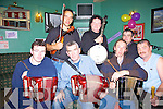 Musicians plying in The New Kingdom bar for the Feile Lois Tuathail on Saturday night were Front L-r Michael Collins, Ballylongford, Sean McCarron, Listowel, Michael Culloty, Corrow, Jim Lyons, Listowel  Back L-r  Sean Abeyta Inishbofin, Tom Moloney, Cork and Tom O'Sullivan Bantry Co.Cork.   Copyright Kerry's Eye 2008