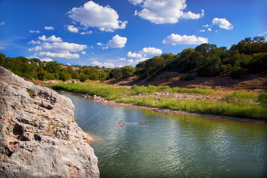 Sedimentary rock formations create fascinating natural sculptures in Pedernales Falls State Park