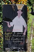 """Europe/France/DOM/Antilles/Petites Antilles/Guadeloupe/Env de Trois-Rivières : Porte-menu du restaurant """"Chez Den"""""""