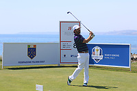 Thomas Aiken (RSA) on the 8th tee during Round 3 of the Rocco Forte Sicilian Open 2018 played at Verdura Resort, Agrigento, Sicily, Italy on Saturday 12th May 2018.<br /> Picture:  Thos Caffrey / www.golffile.ie<br /> <br /> All photo usage must carry mandatory copyright credit (&copy; Golffile   Thos Caffrey)
