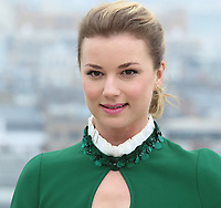 Emily VanCamp in London to promote the new medical TV drama The Resident, on Universal Channel. Photocall at 1 St Giles Street, London on April 10th 2018<br /> CAP/ROS<br /> &copy;ROS/Capital Pictures