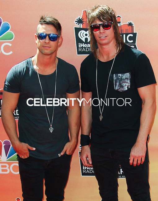 LOS ANGELES, CA, USA - MAY 01: Matt Stafford, Chris Stafford, The Stafford Brothers at the iHeartRadio Music Awards 2014 held at The Shrine Auditorium on May 1, 2014 in Los Angeles, California, United States. (Photo by Celebrity Monitor)