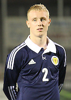 Jack Grimmer in the Scotland v Armenia UEFA European Under-19 Championship Qualifying Round match at New Douglas Park, Hamilton on 9.10.12.