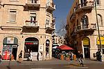 Israel, Jerusalem, Renovated buildings on Yafo Street<br />