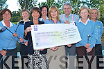 CHEQUE PRESENTATION: Member's of the Castlegregory Ladies Golf Team presenting a cheque for EUR6,500 to Ted Moyihan of Kerry Hospice at Fels Point Hotel on Friday l-r: Sandra Nyhan, Orla Hickey, Merlyn O'Connor (Captain), Katrina Mehigan, Anne Kerins, Ted Moyihan, Mary Sills and Nora Keogan.   Copyright Kerry's Eye 2008