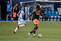 12th July 2020; Estadio Municipal de Butarque, Madrid, Spain; La Liga Football, Club Deportivo Leganes versus Valencia; Mouctar Diakhaby (Valencia CF) breaks forward
