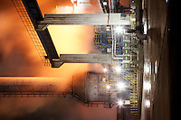 A view of Ma Steel's new plant at night in Maanshan, China..29 Dec 2008