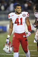 23 November 2013:  Nebraska LB David Santos (41) . The Nebraska Cornhuskers defeated the Penn State Nittany Lions 23-20 in overtime at Beaver Stadium in State College, PA.