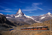 Gornergrat train at the Matterhorn