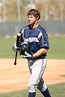 Logan Schafer - Milwaukee Brewers - 2009 spring training.Photo by:  Bill Mitchell/Four Seam Images