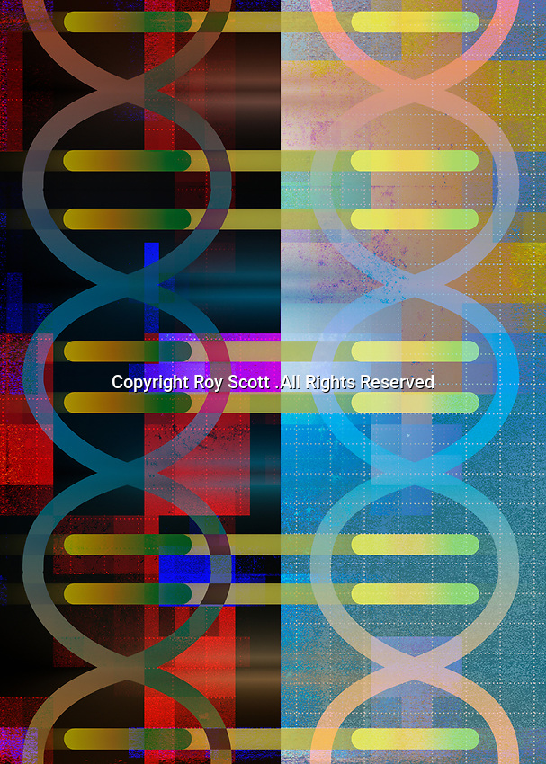 Abstract backgrounds pattern of DNA double helix