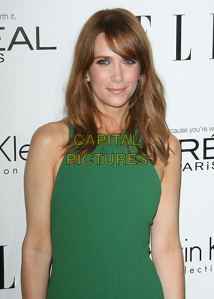 Kristen Wiig.ELLE's 19th Annual Women In Hollywood Celebration held at Four Seasons Hotel, Beverly Hills, California, USA..October 15th, 2012.half length dress sleeveless green  .CAP/ADM.©AdMedia/Capital Pictures.