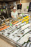 ADSA colleague Laura Carter on the fish counter