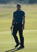 Paul Dunne of Ireland reacts to a missed putt during Round 2 of the 2015 Alfred Dunhill Links Championship at the Old Course, St Andrews, in Fife, Scotland on 2/10/15.<br /> Picture: Richard Martin-Roberts | Golffile