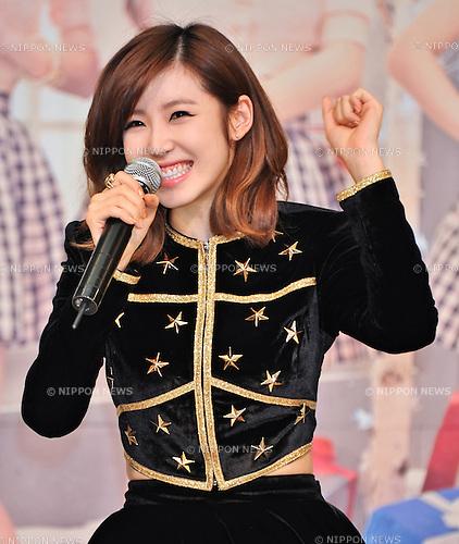 "Jun Hyo-Seong(Secret), Feb 06, 2014 : Secret, Song Jieun, Han Sunhwa, Jun Hyoseong, Jung Hana, February 6, 2014, Tokyo, Japan : Jun Hyoseong of South Korean girl group ""Secret"" attends her promotion event in Tokyo, Japan, on February 6, 2014."