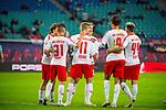 07.10.2018, Red Bull Arena, Leipzig, GER, 1. FBL 2018/2019, RB Leipzig vs. 1. FC N&uuml;rnberg/Nuernberg,<br /> <br /> DFL REGULATIONS PROHIBIT ANY USE OF PHOTOGRAPHS AS IMAGE SEQUENCES AND/OR QUASI-VIDEO.<br /> <br /> im Bild<br /> <br /> 4:0 F&uuml;hrung f&uuml;r RB Leipzig durch Timo Werner (#11, RB Leipzig), <br /> <br /> <br /> Foto &copy; nordphoto / Dostmann