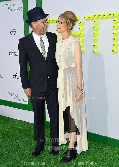 Jonathan Dayton &amp; Valerie Faris at the premiere for &quot;Battle of the Sexes&quot; at the Regency Village Theatre, Westwood, Los Angeles, USA 16 September  2017<br /> Picture: Paul Smith/Featureflash/SilverHub 0208 004 5359 sales@silverhubmedia.com
