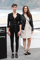 Actress Maria Siebald and Ingrid Isensee presents the film 'La Voz en Off' during the 62st San Sebastian Film Festival in San Sebastian, Spain. September 23, 2014. (ALTERPHOTOS/Caro Marin)