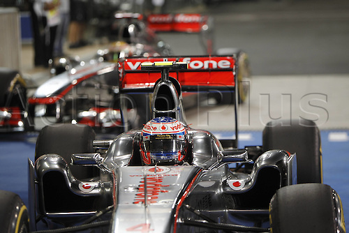 12.11.2011 Abu Dhabi, United Arab Emirates. Grand Prix of Abu Dhabi 04 Jenson Button GBR Vodafone McLaren Mercedes  during the qualification round of the Abu Dhabi FIA F1 Grand Prix