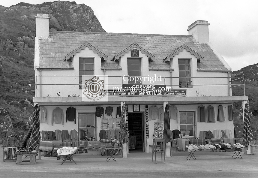 Cremin's shop Gap of Dunloe, Killarney in the 1950's..Picture by Harry MacMonagle