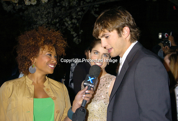 "Tanika Ray, Ashton Kutcher and Amanda Peet ..at a Special Screening of "" A Lot Like Love"" on april 18, 2005 at the Clearview Chelsea West Cinema. ..Photo by Robin Platzer, Twin Images"