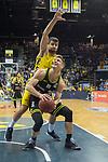 13.04.2019, EWE Arena, Oldenburg, GER, easy Credit-BBL, EWE Baskets Oldenburg vs medi Bayreuth, im Bild<br /> Nick RAIVIO (medi Bayreuth #30 )<br /> Viojdan STOJANOVSKI (EWE Baskets Oldenburg #19 )<br /> Foto &copy; nordphoto / Rojahn