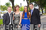 Adam Fitzgerald, Claire McElligott, Danielle Robinson, Paraic Murray enjoying the Causeway Comprehensive Debs on Thursday at the Brandon Hotel