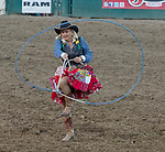 Action during the Reno Rodeo in Reno, Nevada on Saturday, June 23, 2018.