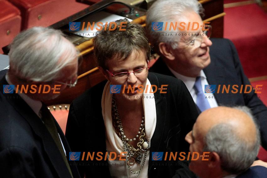 La neurobiologa Elena Cattaneo <br /> Roma 04/09/2013 Prima seduta in Aula per i Senatori a vita appena nominati<br /> First session for the new appointed Senators for life. <br /> Photo Samantha Zucchi Insidefoto