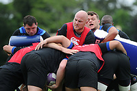 Matt Garvey of Bath Rugby in action at a maul. Bath Rugby pre-season training session on July 28, 2017 at Farleigh House in Bath, England. Photo by: Patrick Khachfe / Onside Images