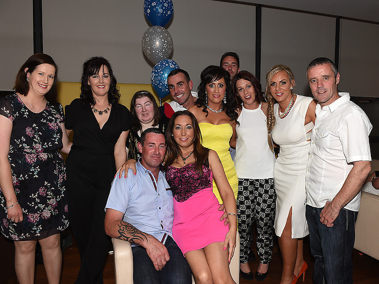 Dennis Phillips celebrating his 40th birthday in Brú with his wife Tracey and all his friends. Photo:Colin Bell/pressphotos.ie