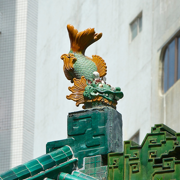 Dragon Fish On Roof (West), Tung Wah Museum.