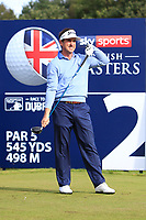 Gonzalo Fernandez-Castano (ESP) on the 2nd tee during Round 3 of the Sky Sports British Masters at Walton Heath Golf Club in Tadworth, Surrey, England on Saturday 13th Oct 2018.<br /> Picture:  Thos Caffrey | Golffile