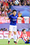 Shinji Okazaki of Leicester City in action during their 2016-17 UEFA Champions League Quarter-Finals 1st leg match between Atletico de Madrid and Leicester City at the Estadio Vicente Calderon on 12 April 2017 in Madrid, Spain. Photo by Diego Gonzalez Souto / Power Sport Images