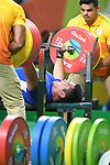 Sodnompiljee Enkhbayar (MGL), <br /> SEPTEMBER 13, 2016 - Powerlifting : <br /> Men's -88kg<br /> at Riocentro - Pavilion 2<br /> during the Rio 2016 Paralympic Games in Rio de Janeiro, Brazil.<br /> (Photo by AFLO SPORT)