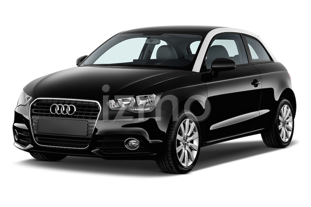 Front three quarter view of 2014 Audi A1 Ambition 3 Door Hatchback 2WD